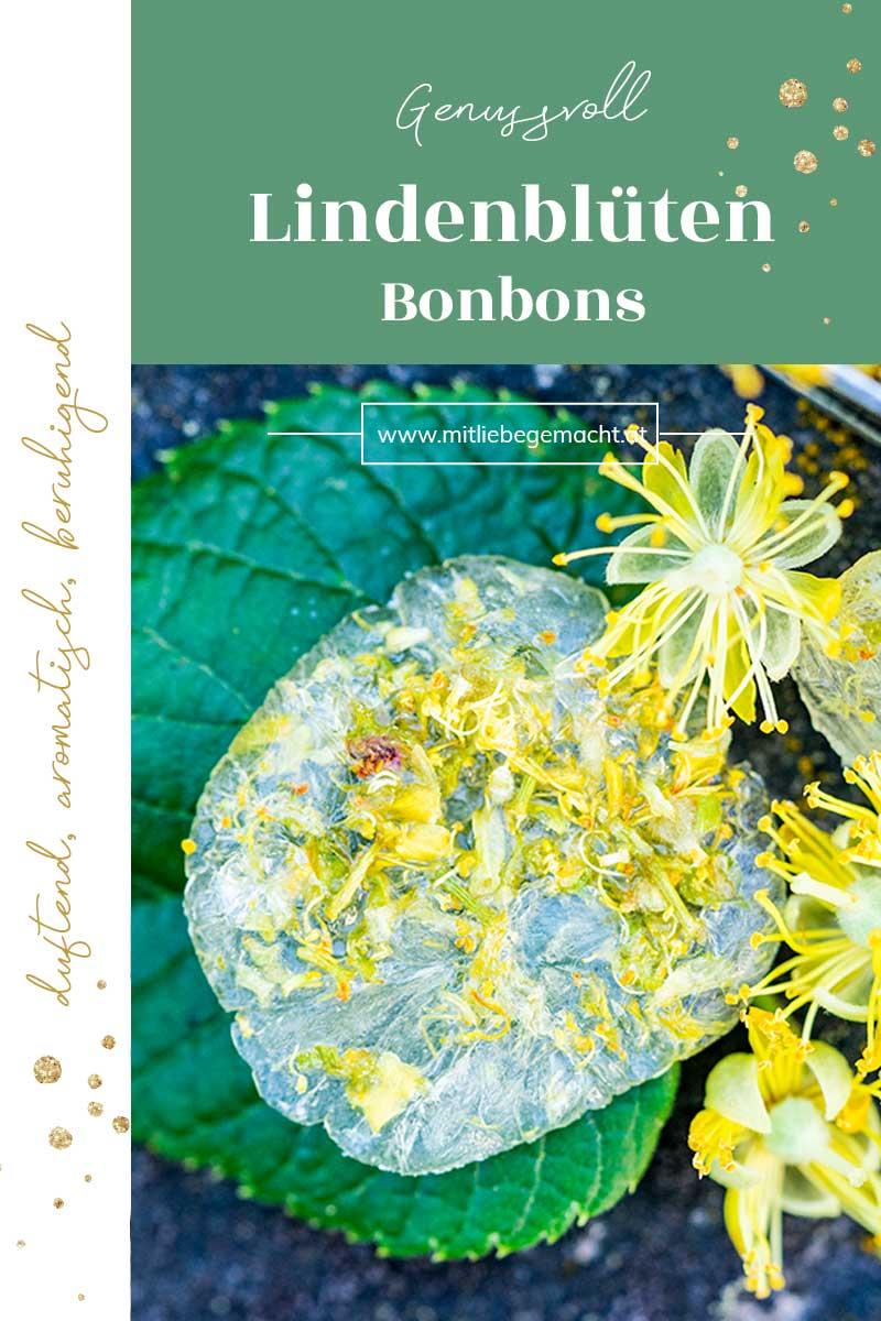 aromatische Lindenblüten Bonbons mit Birkenzucker