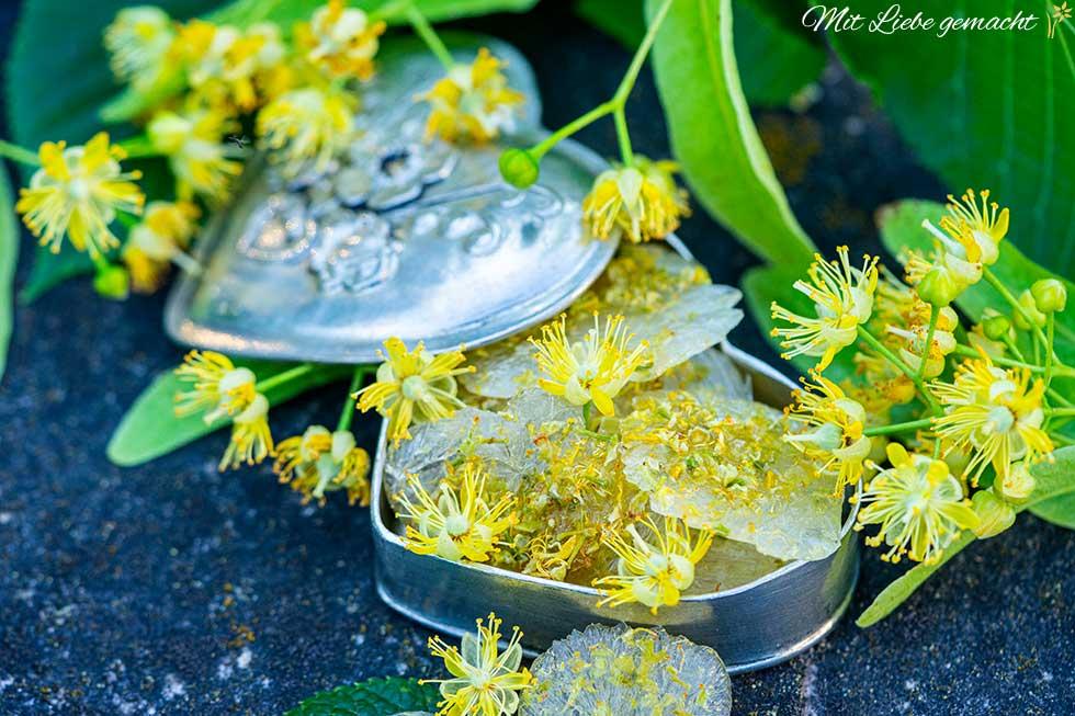 aromatische Lindenblüten Bonbons selber machen