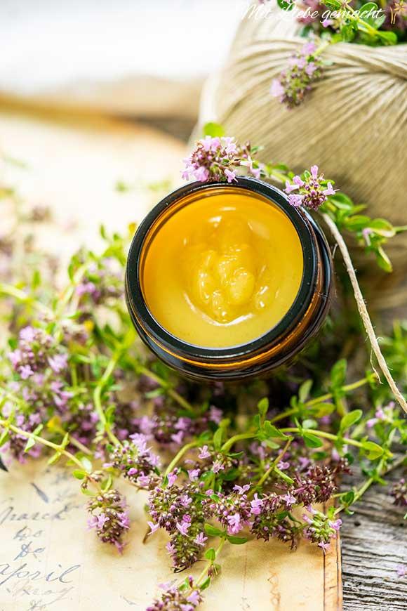 duftende Quendelsalbe mit Honig selber machen